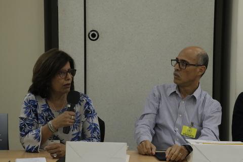 Argentina Martínez Directora de Save the Children y Oscar Chicas, Director de Visión Mundial