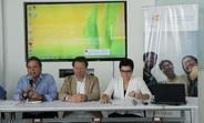De izquierda a derecha: Donald Méndez, Director Los Pipitos, Sergio Meresman, Especialista EIS & PCD y Elena Zúñiga, Representante de UNFPA Nicaragua.