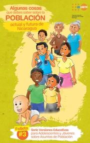 Versiones Educativas sobre Adolescentes y Jóvenes en Asuntos de Población, Folleto No.3